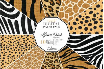 Digital Paper   I   Africa Skins Set 02