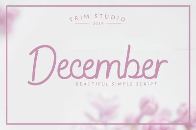 December - Sophisticated Script