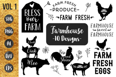 FARMHOUSE BUNDLE Vol1 - SVG cut files