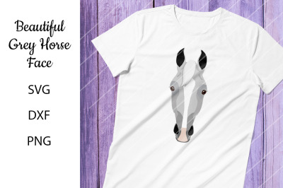 Grey Horse Face - SVG DXF PNG - For Crafters