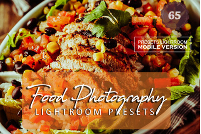 65 Food PhotographyMobile Presets (Adroid and Iphone/Ipad)
