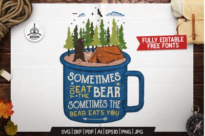 Camp Wildlife Logo / Vintage Camp Badge Fun Patch