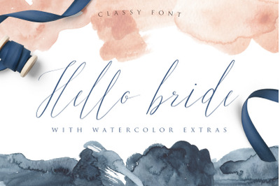 Hello Bride Font with Extras