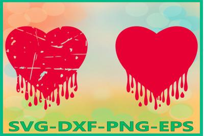 Bleeding Heart Grunge, Heart, Dripping Hearts