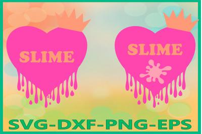 Slime Queen, Slime Heart, Love, Birthday Clipart