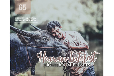 65 Human InterestMobile Presets (Adroid and Iphone/Ipad)