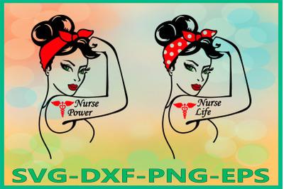 Rosie SVG, Nurse Life, Nurse Power, Nurse Life Rosie