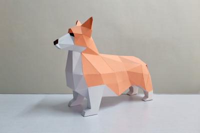 DIY Corgi dog - 3d papercraft