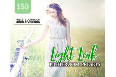150 Light LeakMobile Presets (Adroid and Iphone/Ipad)