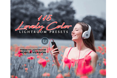 115 Lovely Color Mobile Presets (Adroid and Iphone/Ipad)