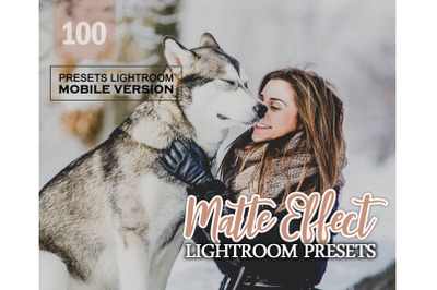 100 Matte EffectMobile Presets (Adroid and Iphone/Ipad)