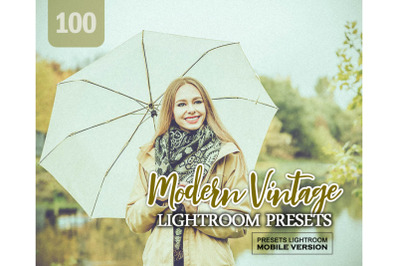 100 Modern Vintage Mobile Presets (Adroid and Iphone/Ipad)
