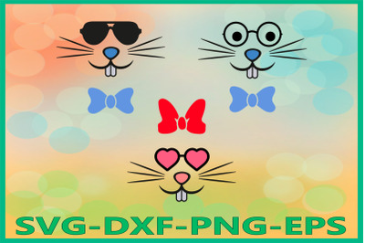 Bunny Face, Easter Bunny, Bunny Glasses, Easter