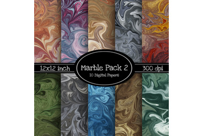 Marbled 12x12 Inch Paper Pack 2 - With 10 BONUS Papers
