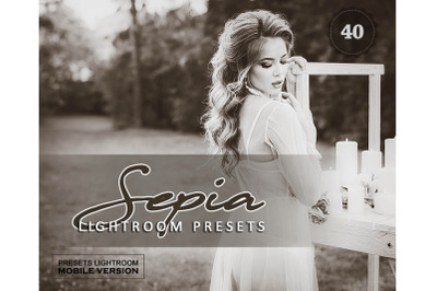 40 Sepia Sensation Mobile Presets (Adroid and Iphone/Ipad)