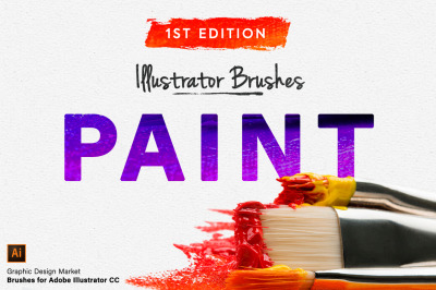 Illustrator Paint Brushes - 1st Edition
