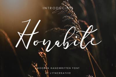 Honabite font