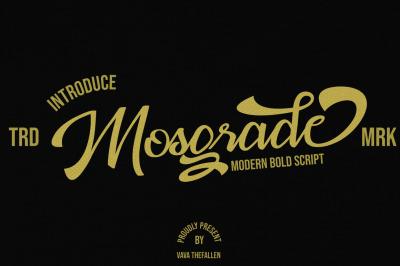 Mosgrade ModernScript Font