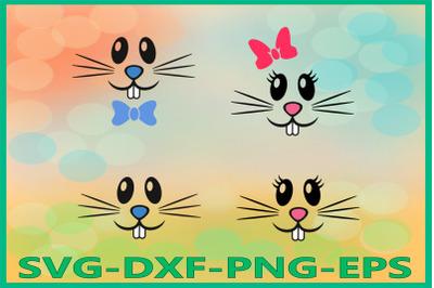 Bunny Face, Bunny Boy Girl, Easter, Rabbits Clipart