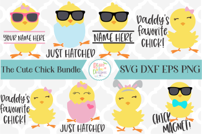 Cute Chicks SVG I Easter SVG Bundle