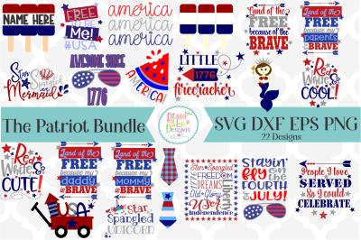 The Patriot SVG Bundle I Fourht of July SVG I USA SVG