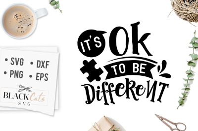 It's OK to be different SVG