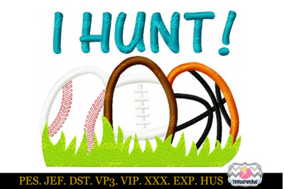 Easter I Hunt Embroidery Applique Embroidery Design