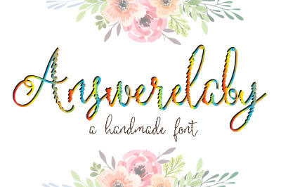 Answerelaby Script Font by watercolor floral designs