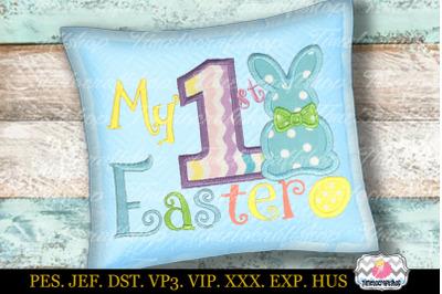 My 1st Easter Embroidery Applique Design dst, exp, hus, jef, pes, sew,