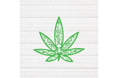 Weed Zentangle SVG - Marijuana SVG