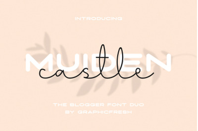 Muiden Castle - The Blogger Font Duo