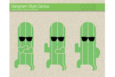 gangnam style cactus svg, svg files, vector, clipart, cricut, download
