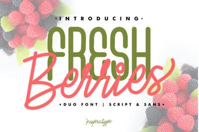 Fresh Berries - Script & Sans Font