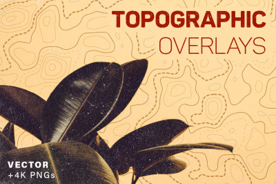 Topography Overlays - 8 Pack | 4K PNGs + Vector