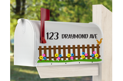 Mailbox SVG - Flower Fence SVG