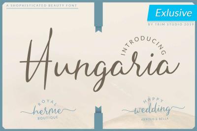 Hungaria - Sophisticated Script Font
