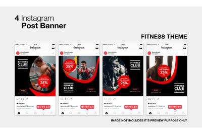 Fitness Club Instagram Post