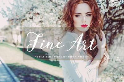 Fine Art Mobile & Desktop Lightroom Presets