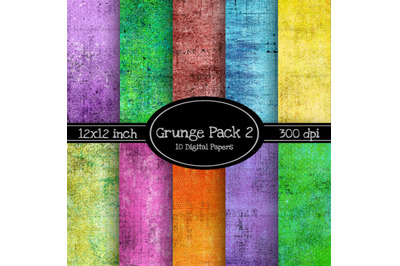 10 Pack of Colorful Grunge Backgrounds 2