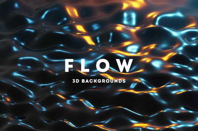 Flow - 25 Liquids 3D Backgrounds