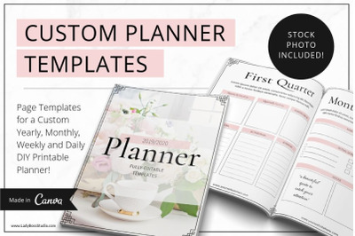 Canva Blush Printable Planner Templates  2019/2020
