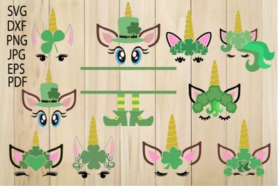 Unicorn SVG, Unicorn Head, Unicorn Face, St. Patrick's Day