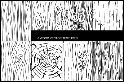 Wood draw vector textures