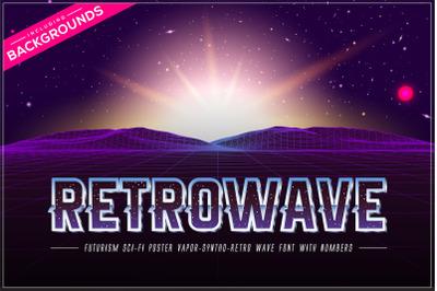 Retrowave Space OTF Vaporwave Font