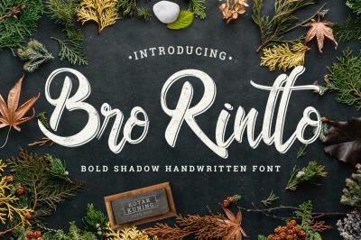 Bro Rintto Shadow Font