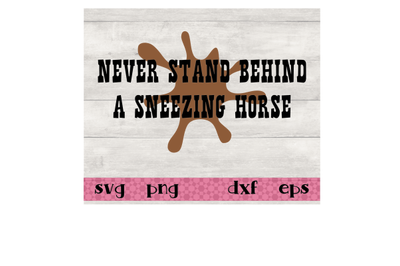 Never stand behind a sneezing horse