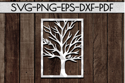 Tree Branch Papercut Template, Family Tree, Home Decor, SVG, PDF
