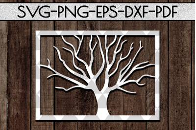 Tree Branch Papercut Template, Family Tree, Home Decor, SVG