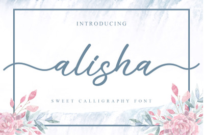 Alisha - Sweet Calligraphy Font