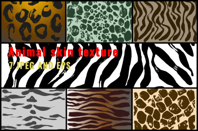 Animal vector color textures